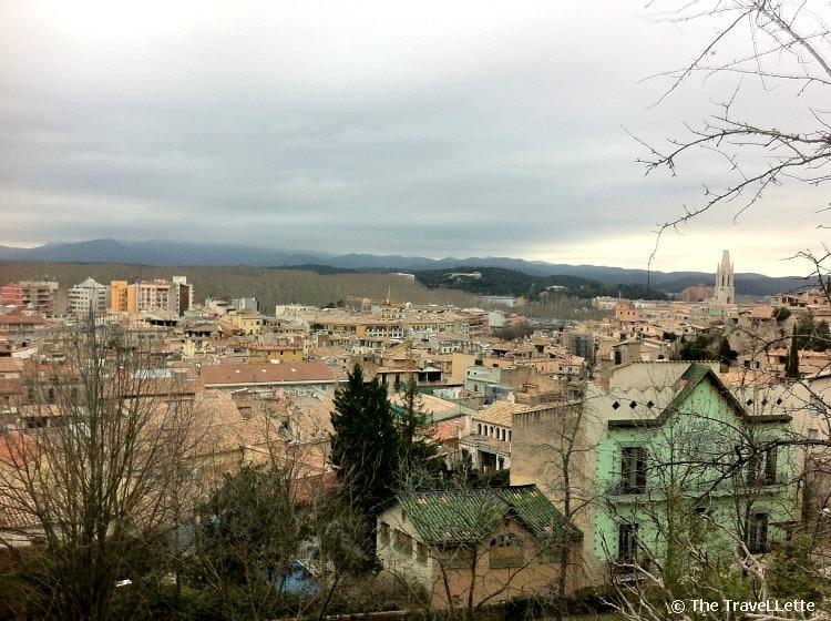 Blick von Mauer in Girona