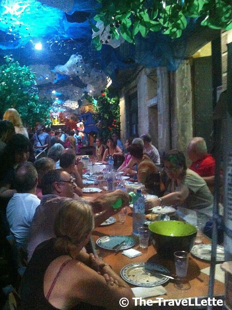 Abendessen Fiesta de Gracia