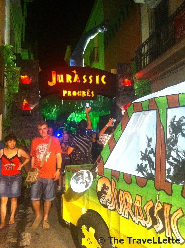 Jurassic Park Fiesta de Gracia