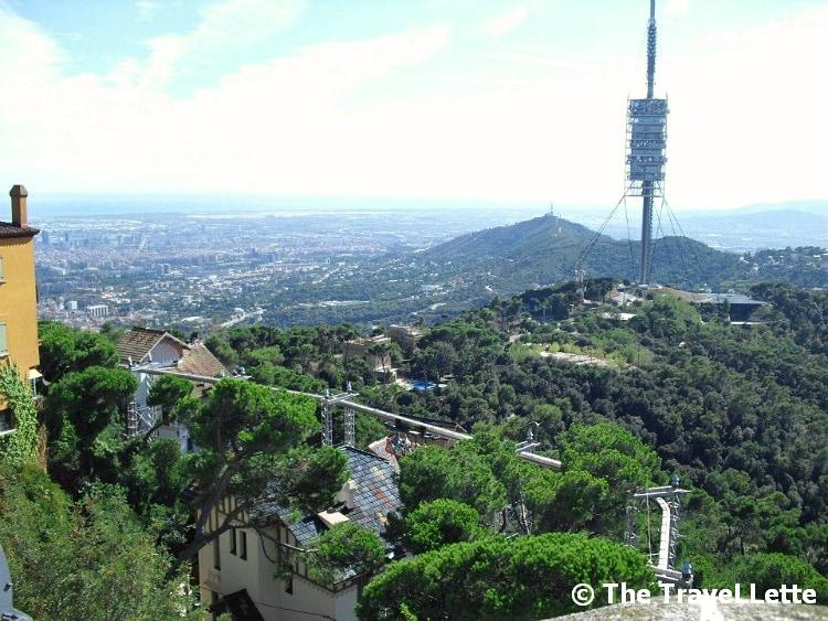 Aussicht Tibidabo Barcelona