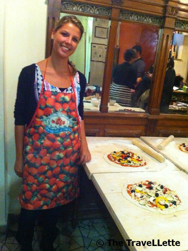Ich beim Pizzabacken