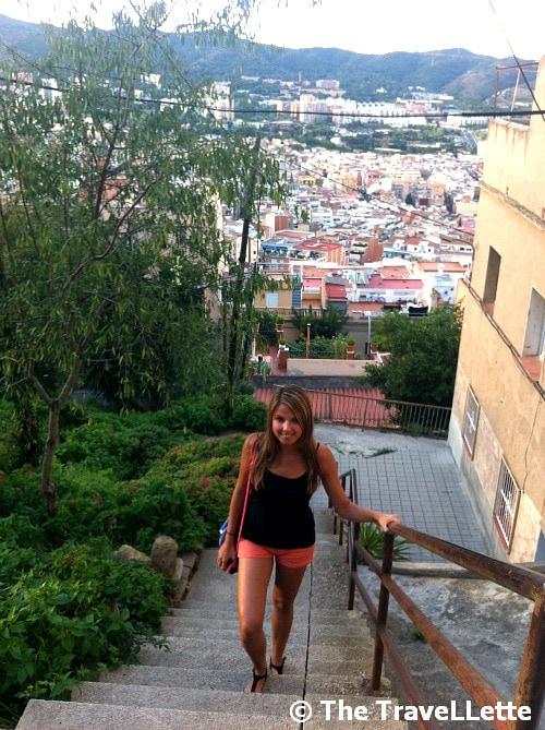 Weg zum Bunker Barcelona