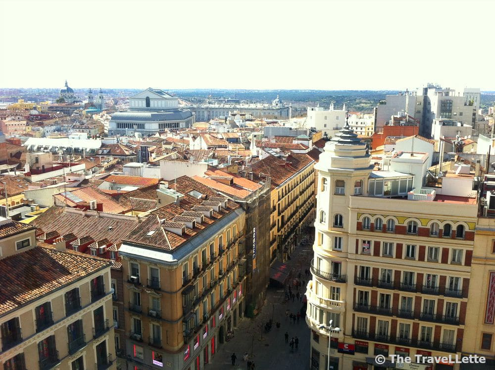 Ausblick Corte Ingles Terrasse Madrid