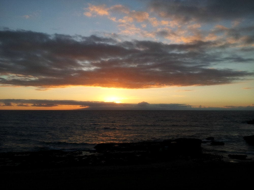 Sonnenuntergang Playa Adeje Teneriffa