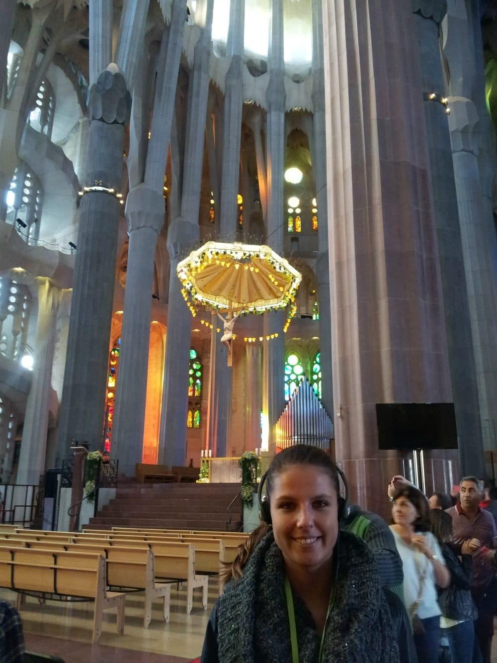 Ich in der Sagrada Familia mit Führung