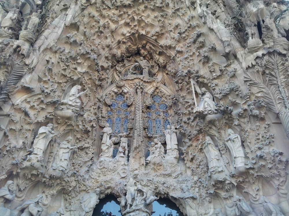 Sagrada Familia Fassade der Geburt