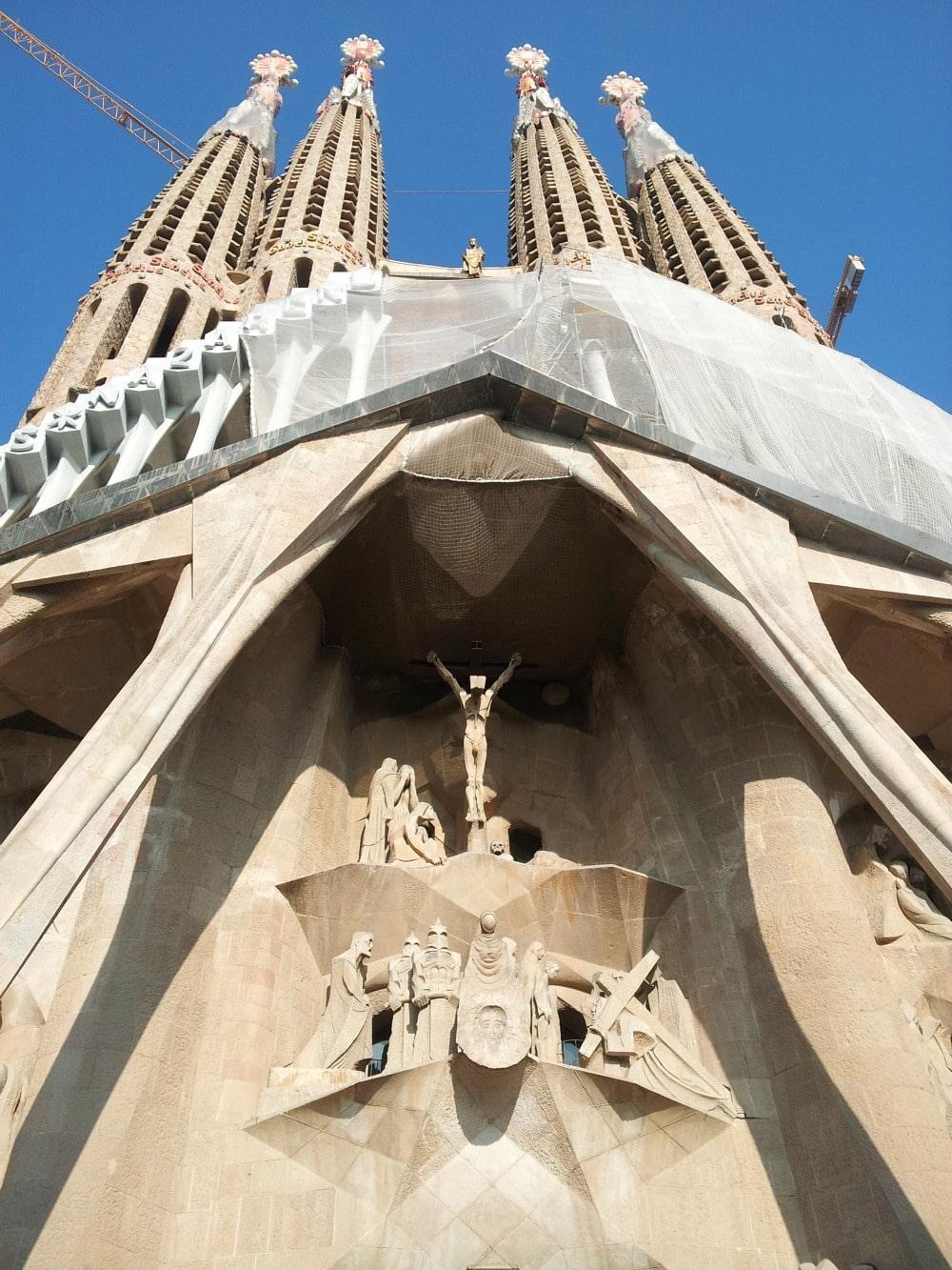 Sagrada Familia Fassade des Leidens