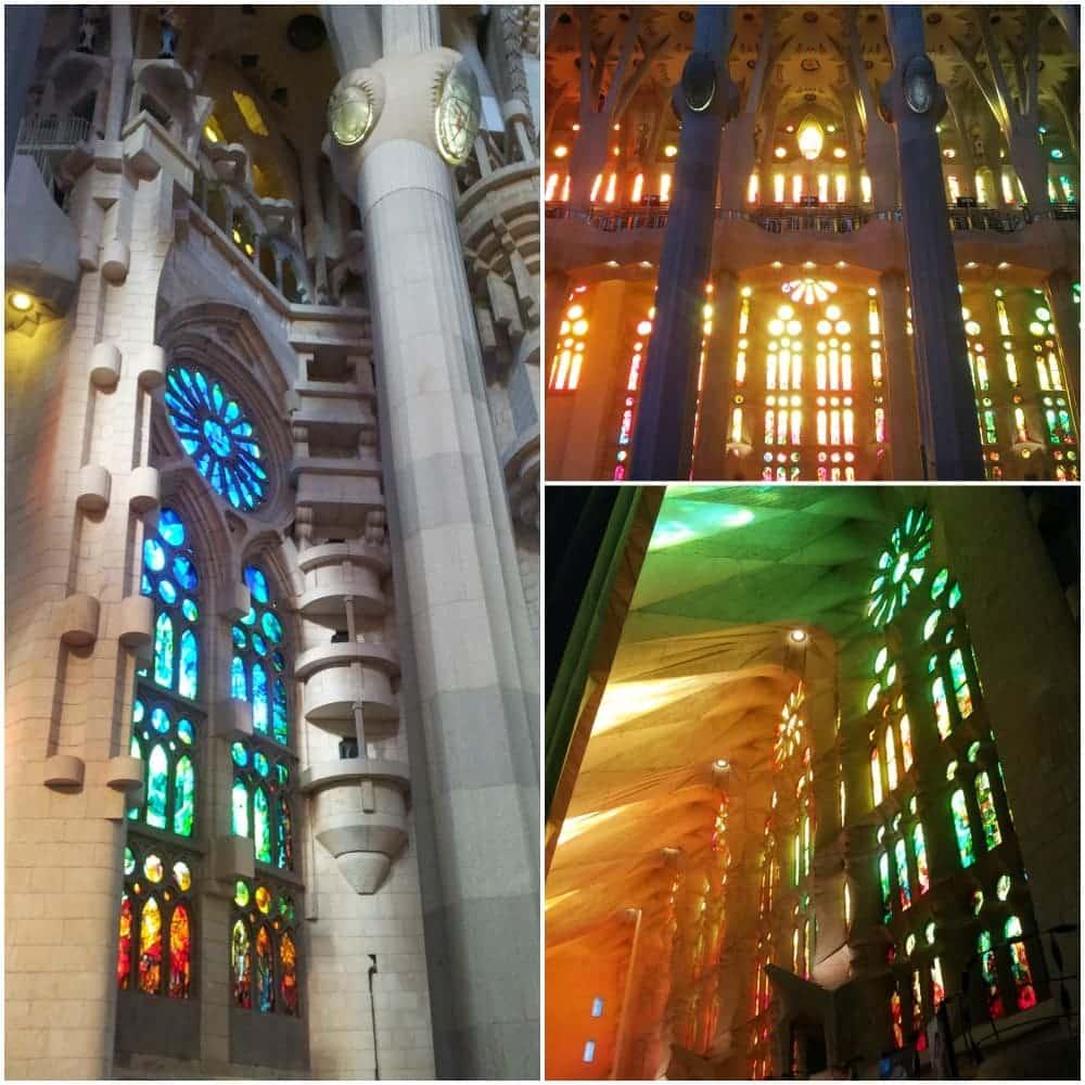 Sagrada Familia von Innen Fenster