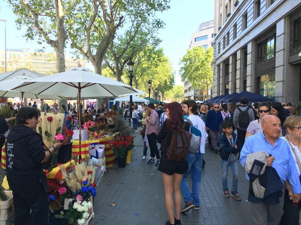 Päarchen Sant Jordi Barcelona