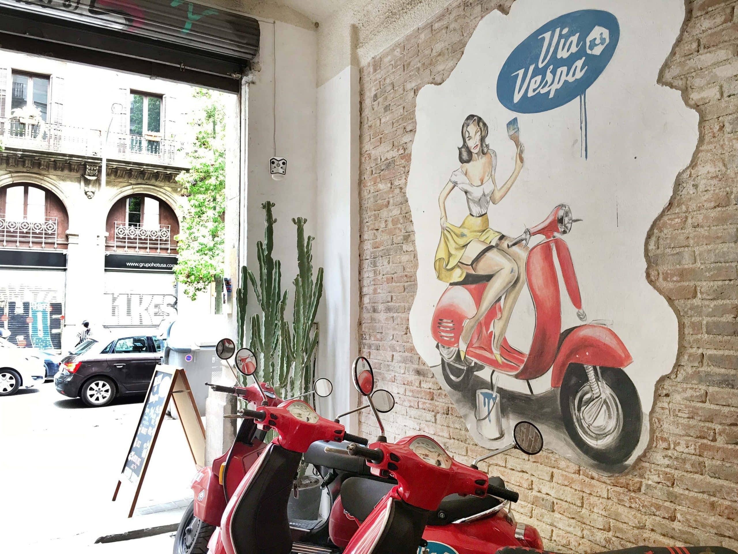 Via Vespa Verleih Barcelona
