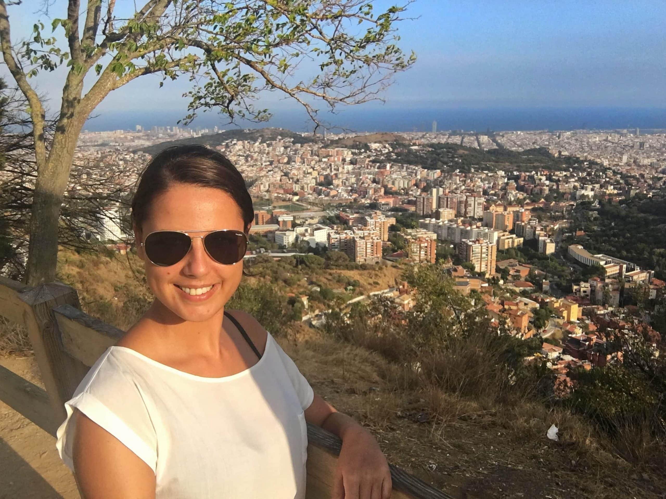 Aussicht Tibidabo Barcelona Sehenswürdigkeiten
