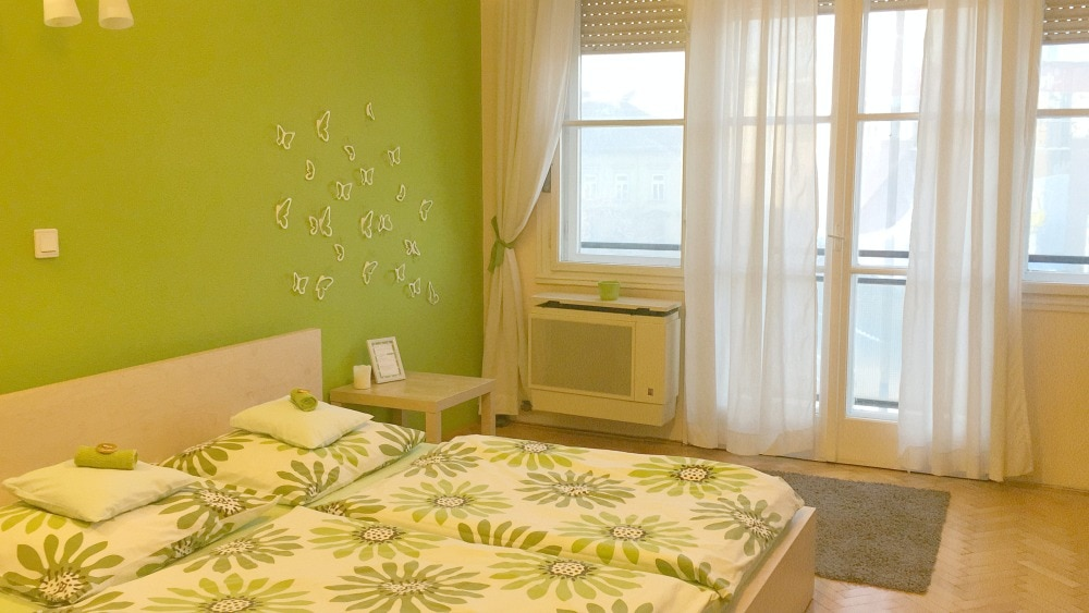 Airbnb Budapest Schlafzimmer