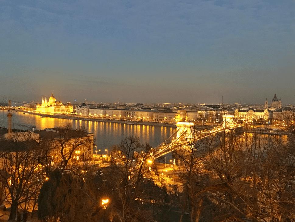 Budapest Panorama Blick Gellertberg