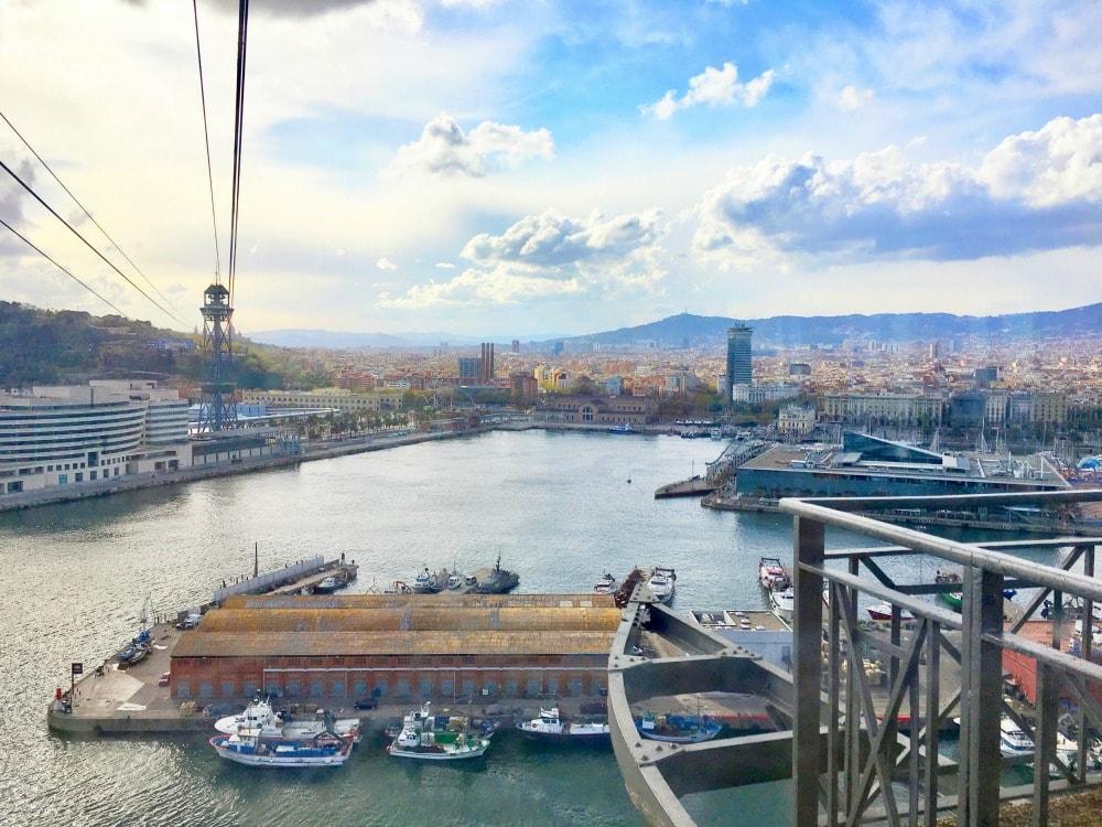 Hafenseilbahn Barcelona Aussichtspunkte