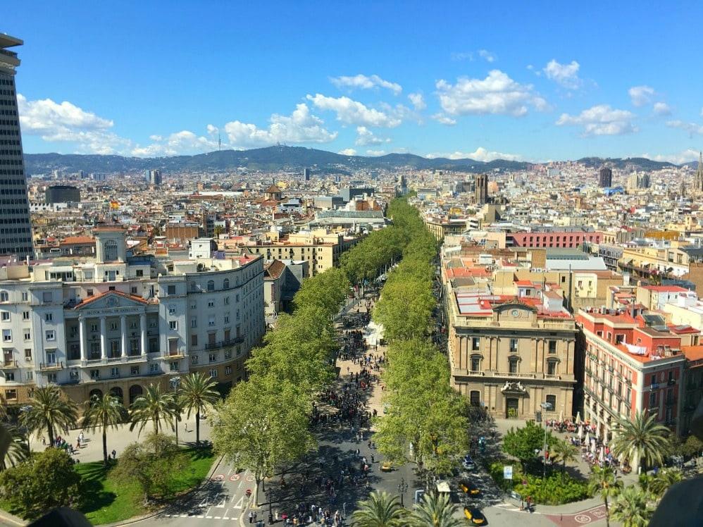 Kolumbus Denkmal Aussichtspunkte Barcelona