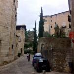 Auf dem Weg zur Stadtmauer
