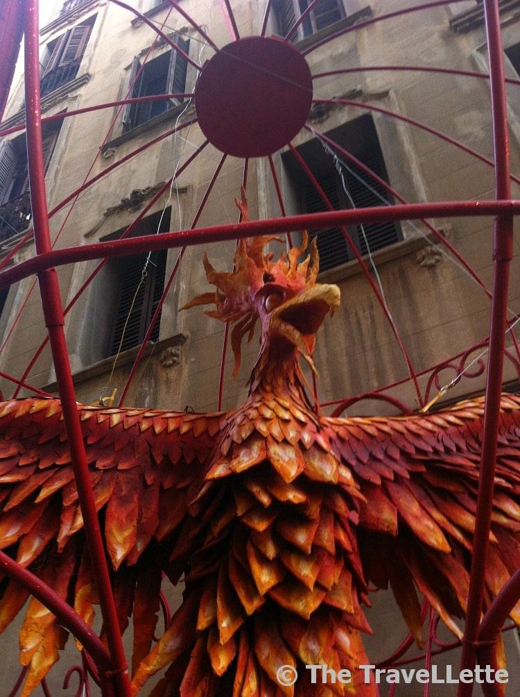 Feuervogel Fiesta de Gracia