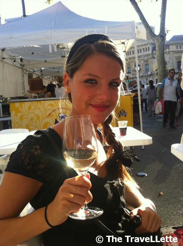 Ich bei der Weinverkostung