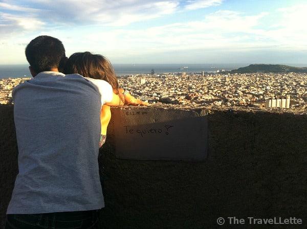 Romantischer Ort Barcelona