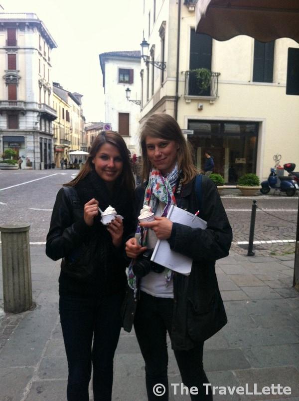 Italienisches Eis in Padua