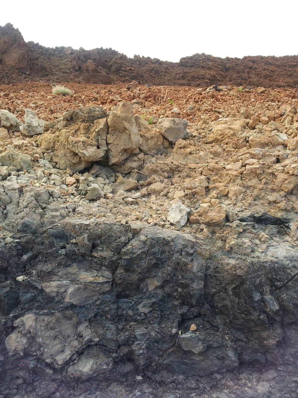 Gesteinschichten Teide Teneriffa