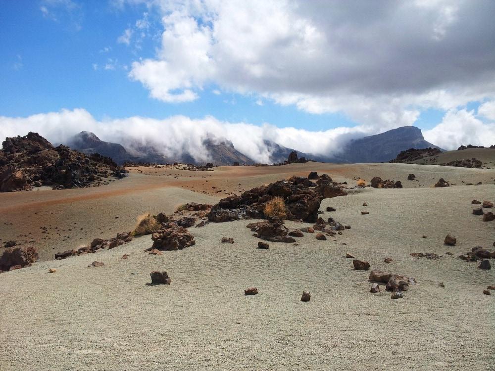 Landschaft Wolken Teide Teneriffa
