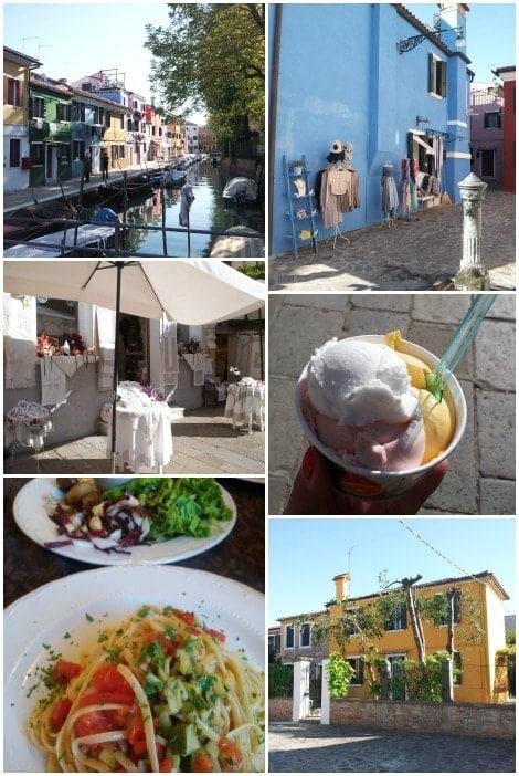Burano Ausflug Collage