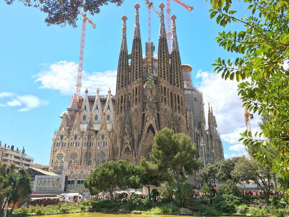 Sagrada Familia Barcelona Aussichtspunkte