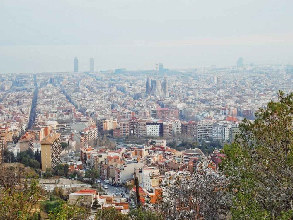 Barcelona-Aussicht-Tibidabo