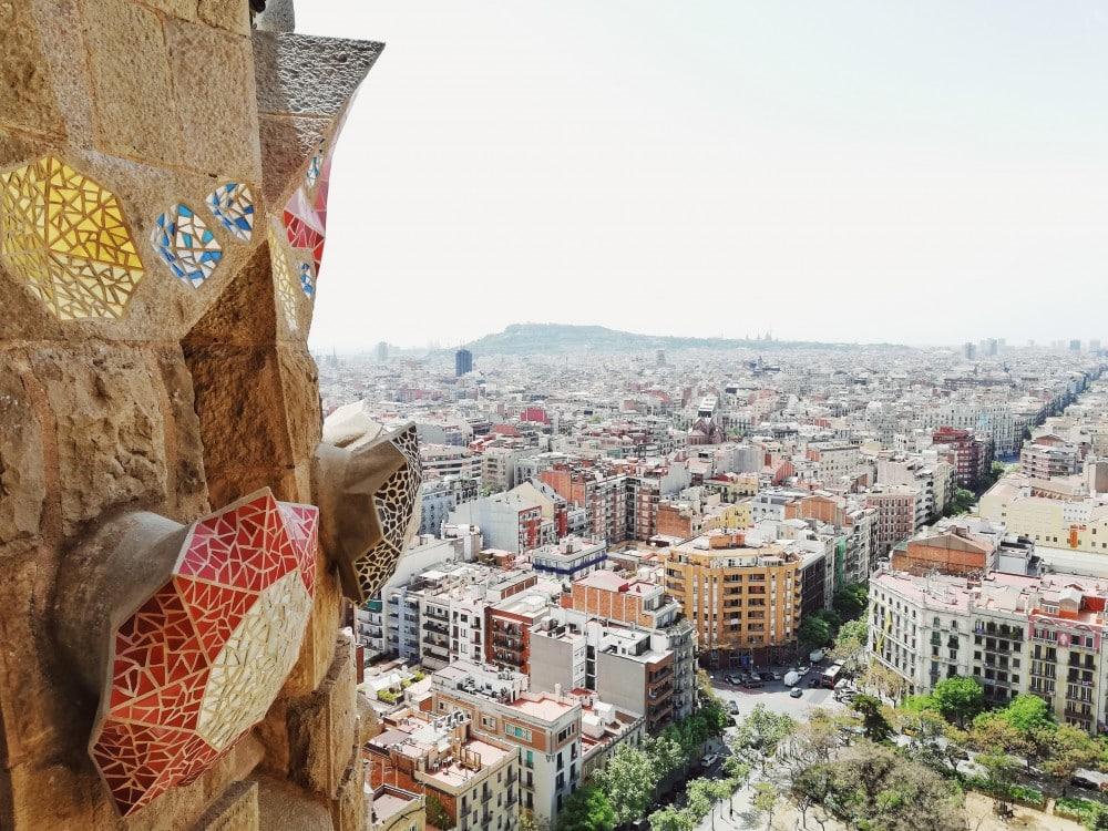 Sagrada Família Türme Ausblick