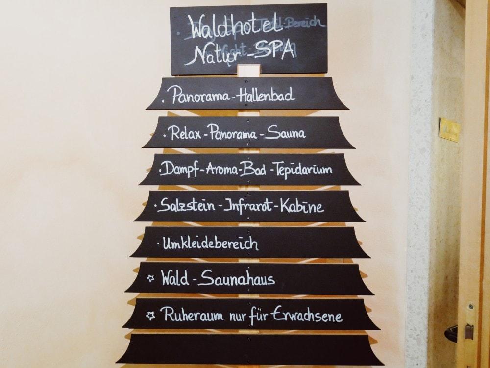 Waldhotel am Notschreipass Wellnessbereich