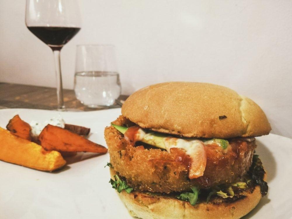 Tia Santa Restaurant Barcelona Veggie Burger