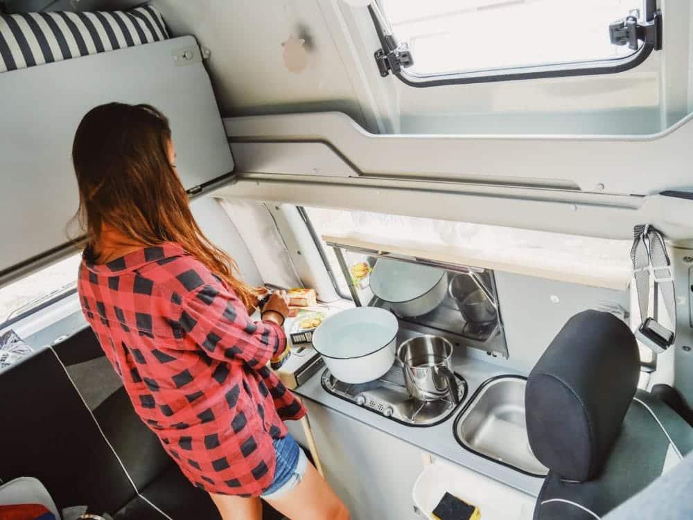Wohnmobil-Kochen