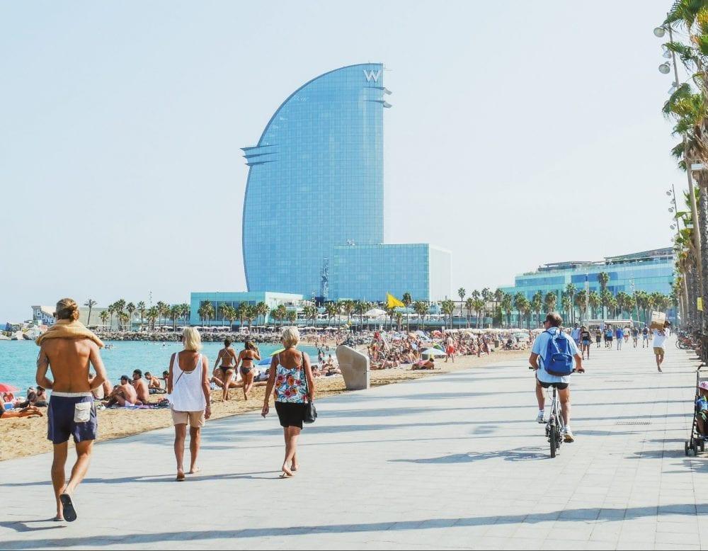 Barcelona-Barceloneta-Strand